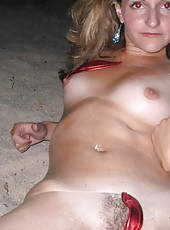 Naughty sexy MILF in skanky poses