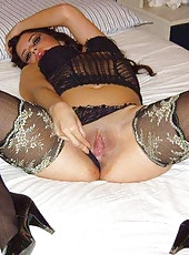Sultry wife in her kinky lingerie