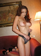 Beautiful and sexy MILF getting naked