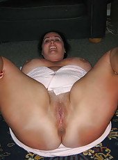 Sexy housewife naked and exposing