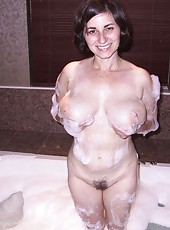 One sexy MILF naked and hungry