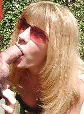 Horny MILF getting naked