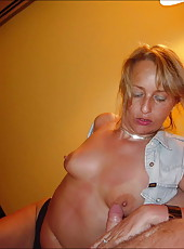 Hungry and horny MILF loves cock