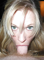 Naughty blonde housewife naked and fucking