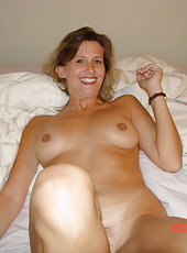 Smoking MILF Diane with hairy pussy