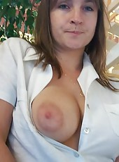 Voluptuous and kinky MILF naked and sucking