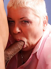 This old fatty�s mouth is awesome and so are her juicy holes