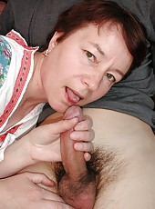 Lustful old woman gets sex thrill with a young boy