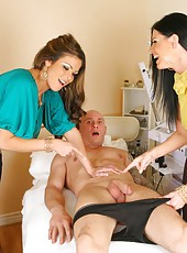 Check out this hot fucking big tits 3some in a doctors office hot milf fuck pics