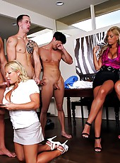 3 smoking hot big tits long leg milfs measure cocks then take the biggest and fuck it hard in this hot masterbation fuckathon picset