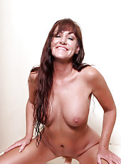 Joann Adams gets wet and wild in the shower