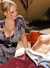 Very busty cougar Katie is cheating her husband