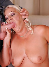 She loves to feel that rod pumping her old ass