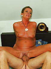 44y old Sandora gets fucked by her younger lover