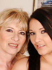 Old-young lesbian lovers Margarette and Lana S