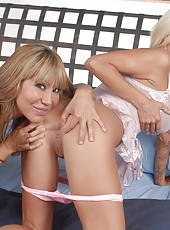 I have Ava Devine all to myself in this sexy exclusive set. So