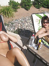 It is a really hot day Sara Jay stopped by to spend some time