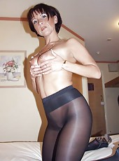 Big Boobs in Pantyhose