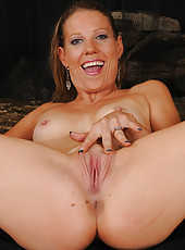 Petite and elegant Alyssa Dutch from AllOver30 gets naked in here