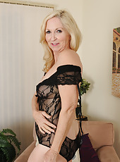 57 year old Annabelle from AllOver30 looking sexy in her black lingerie