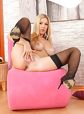 Gorgeous and elegant Carol displaying her long tight body in here