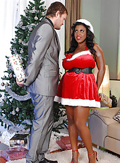 Busty Black Babe Gets A Creamy Gift
