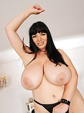 Busty Babe Strips And Dances For Us