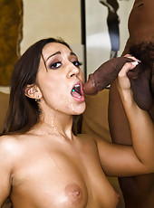 Leona Dulce Grinding Juicy Twat On Giant Cock