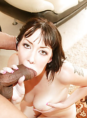 Audrey Elson Mouth And Pussy Stretched With Cock