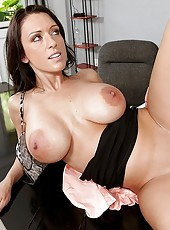 Her  eyes opened and got as big as her tits and her mouth was wide open trying to take in as much air as   possible while jmac went balls deep into her