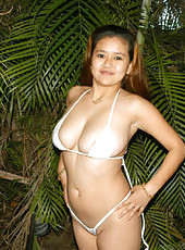 Filipina with a huge bust in a wicked weasel