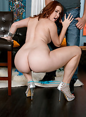 Redhead With A Ripe Rump!