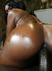 Slutty black cunt with a juicy ass loves a hard ghetto fuck