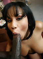 Nasty hot black ho gets her juicy fat booty rammed by huge cock