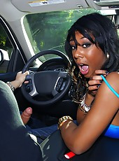 Check out this hot ass black stripper get a ride home for a hot fuck and cumfaced action