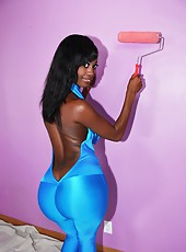 Check out this hot fucking ebony ass babe get fucked by her house painter in these mega ass fuck pics