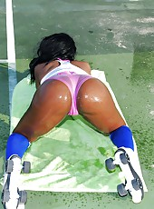 Amazing hot ass fucking body zena gets her bikini ass picked up on the beach then power fucked in these reality pics