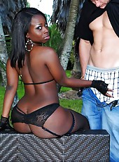 Amazing mega black booty ass gets fucked in the park in these hot outydoor fucking cumfaced mega pics