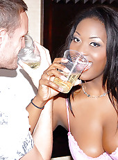 Check out hot ebony ass aryana gets fucked hard after a few drinks in these hot big cock riding cum faced vids