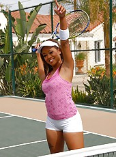 Amazing tight tennis babe gets her coochie fucked on the courts by her tennis coach in these hot suck and fuck pics and big video update