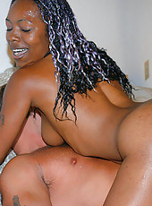 Bad ass ebony hottie with a tight ass shows us the goods on the patio
