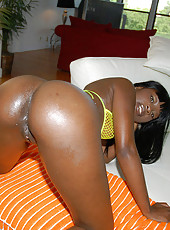 Check out mia super hot round ebony babe gets slammed hard and creamed on her ass and face