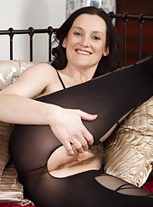 37 year old brunette Emily Marsha making her lingerie look fantastic