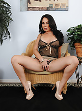 Sexy Holly West from AllOver30 looking awesome in her black lingerie