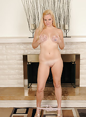 Cute and elegant blonde Lilly Swan from AllOver30 gets ready for you