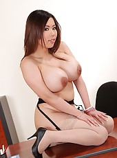 Asian Babe Teases With Her 36D