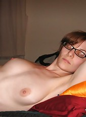 Collection of an amateur horny MILF posing naked on cam