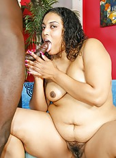 Delotta Brown gets her mature ebony pussy plunged with dick
