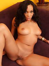 Tight Ebony Cooter Filled Up Some Jizz