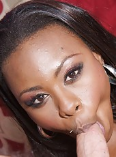 Floppy titted ebony babe getting a huge internal cumshot